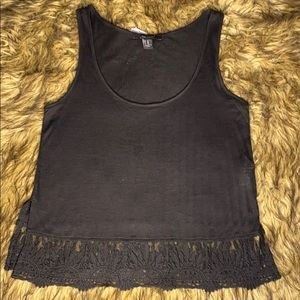NWT Forever 21 Lace Hem Tank Top